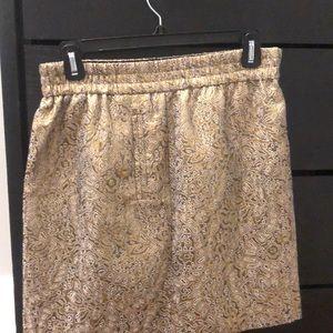 Loft Gold Jacquard skirt